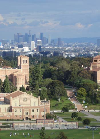 Looking out from UCLA...
